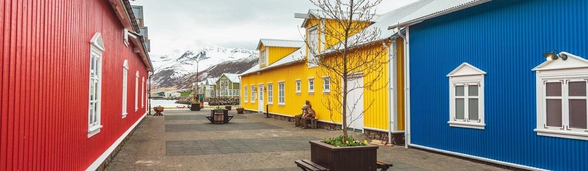 Town of Siglufjordur North Iceland
