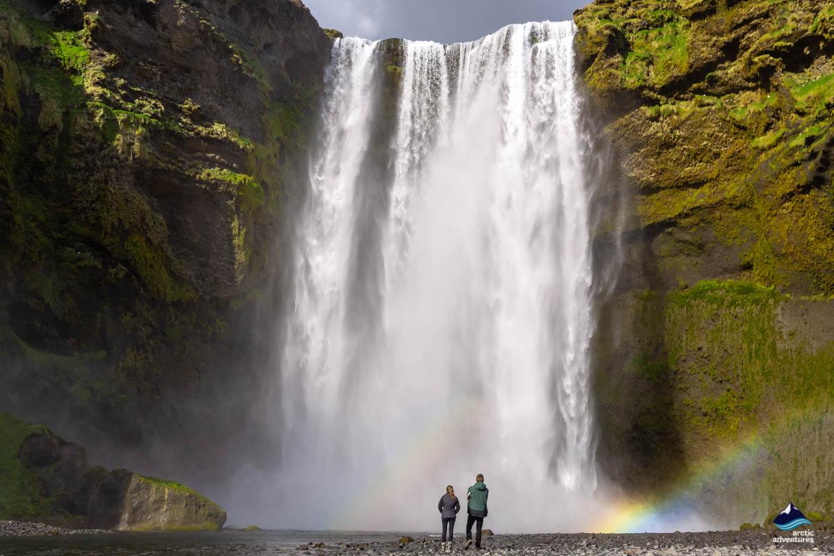 Skogafoss Waterfall with a Rainbow