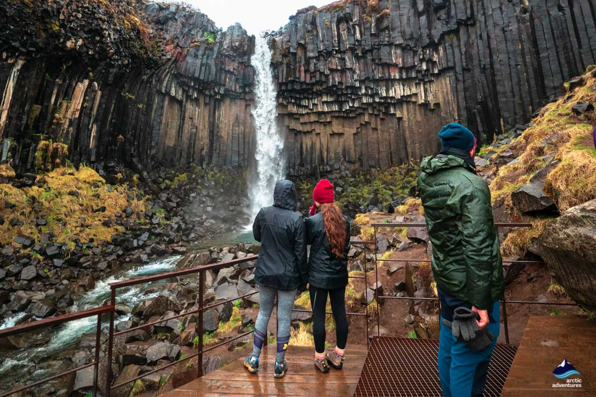 visiting Svartifoss waterfall