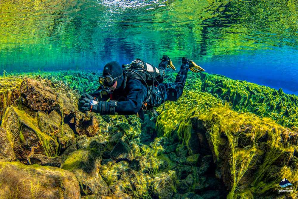 diving Silfra fissure Iceland