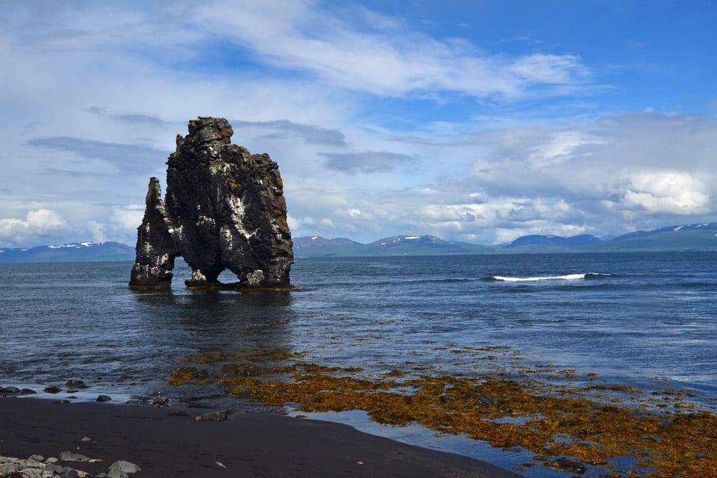 Hvitserkur Cliff in North Iceland