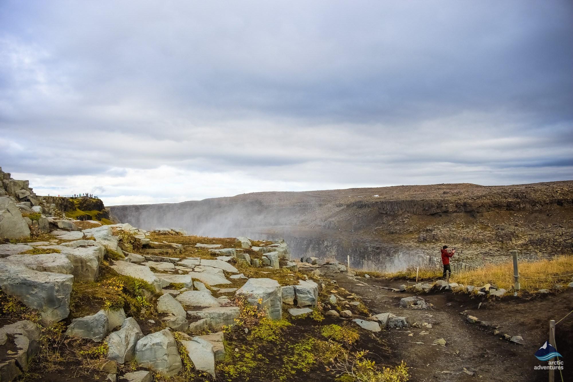 Dettifoss waterfall Iceland winter
