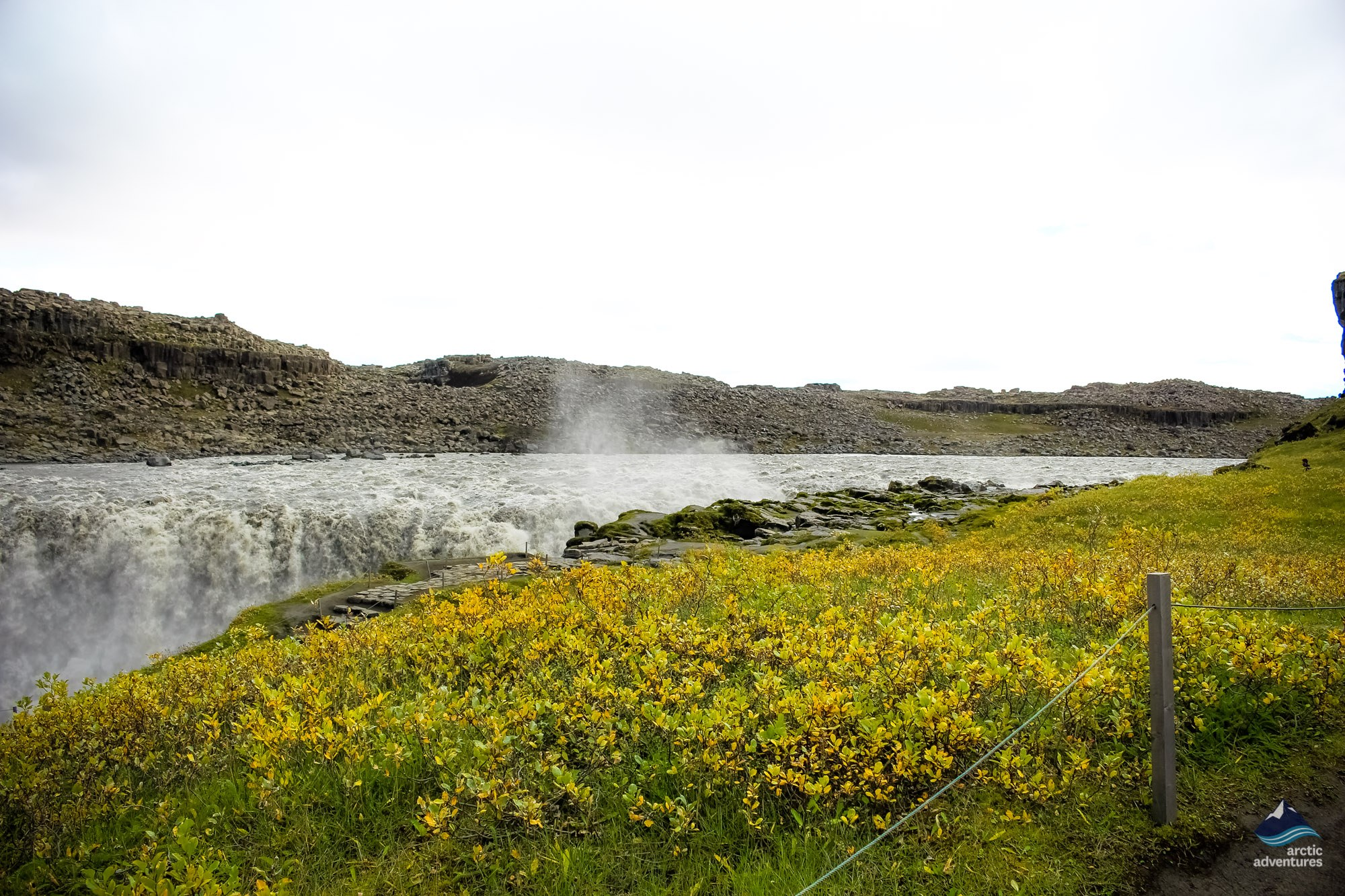 Waterfall in North Iceland