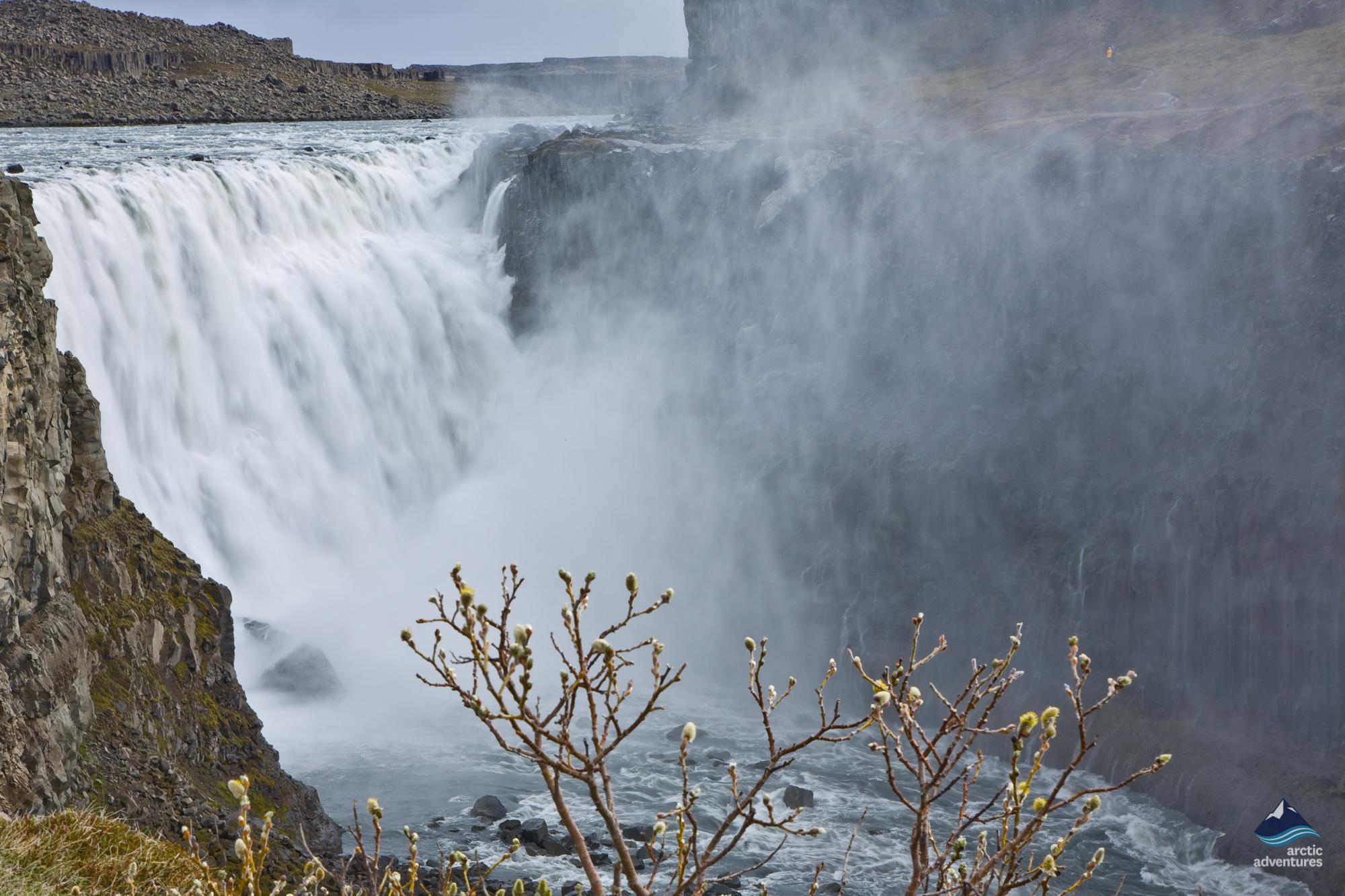 Dettifoss waterfall Iceland in winter