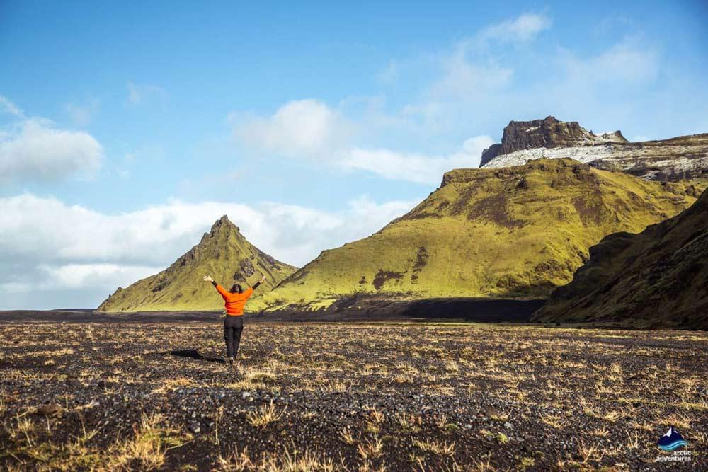 The Myrdalsjokull surroundings