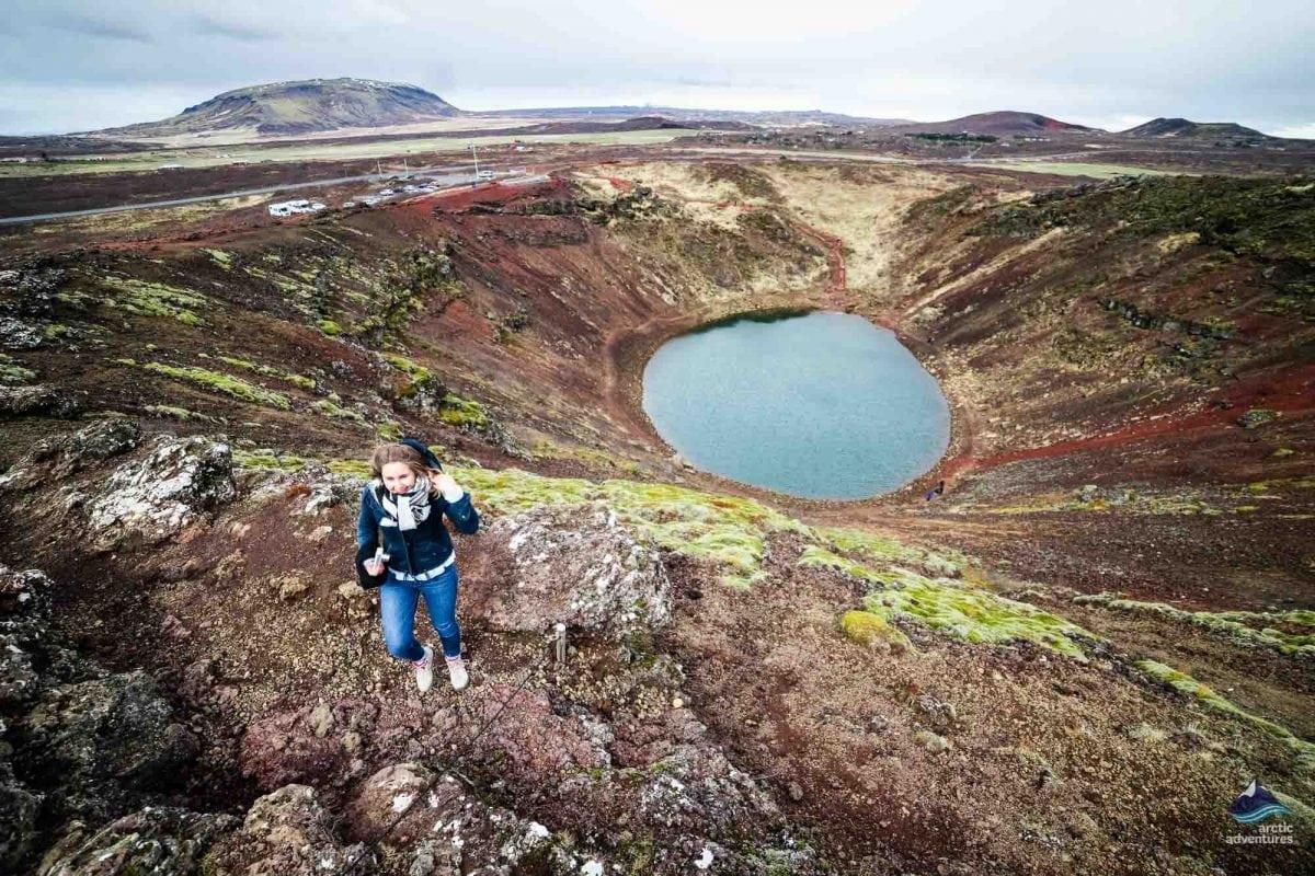 Kerid Volcanic Lake Iceland