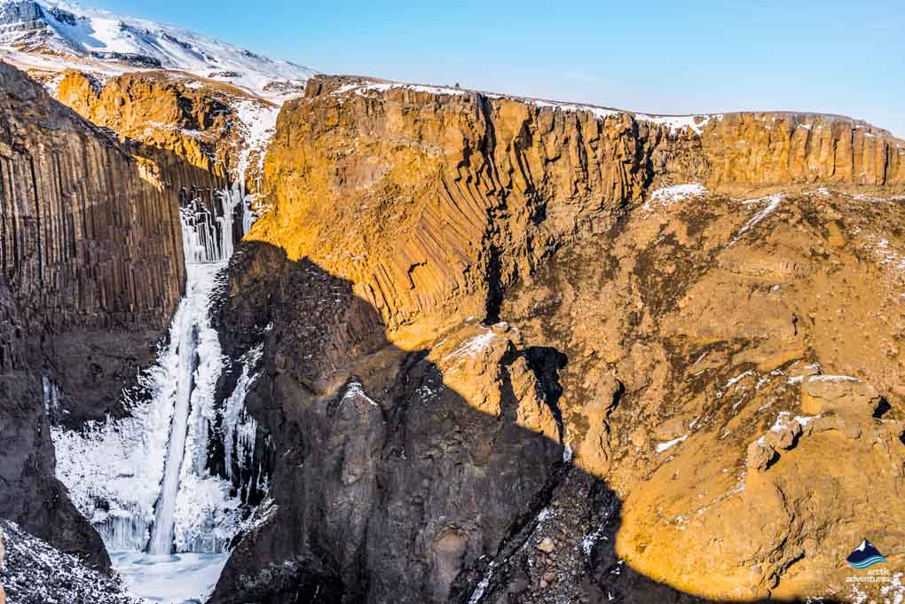 Litlanesfoss Waterfall East Iceland