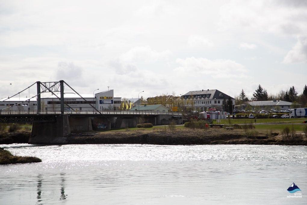 Selfoss Bridge and Town