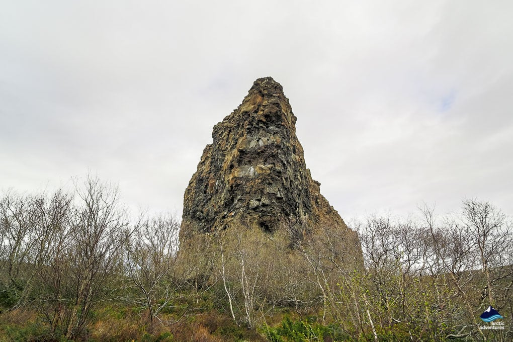 Asbyrgi Crag in Asbyrgi