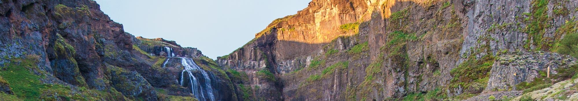 Glymur Waterfall in Hvalvatn