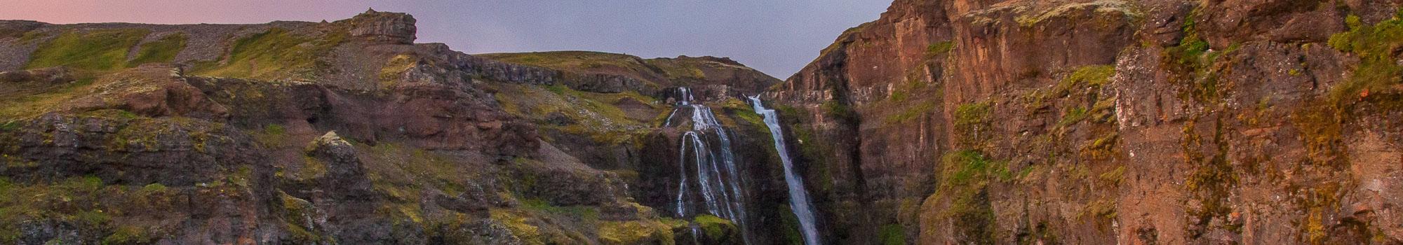 Glymur Waterfall in Hvalfjordur