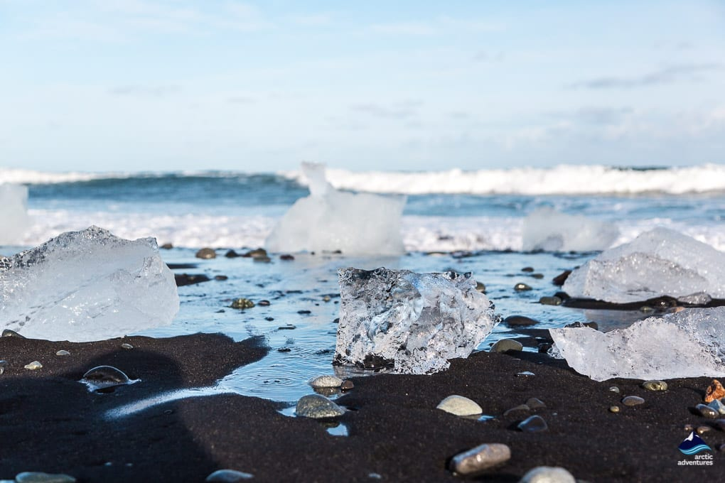 Wintertime at the Diamond Beach
