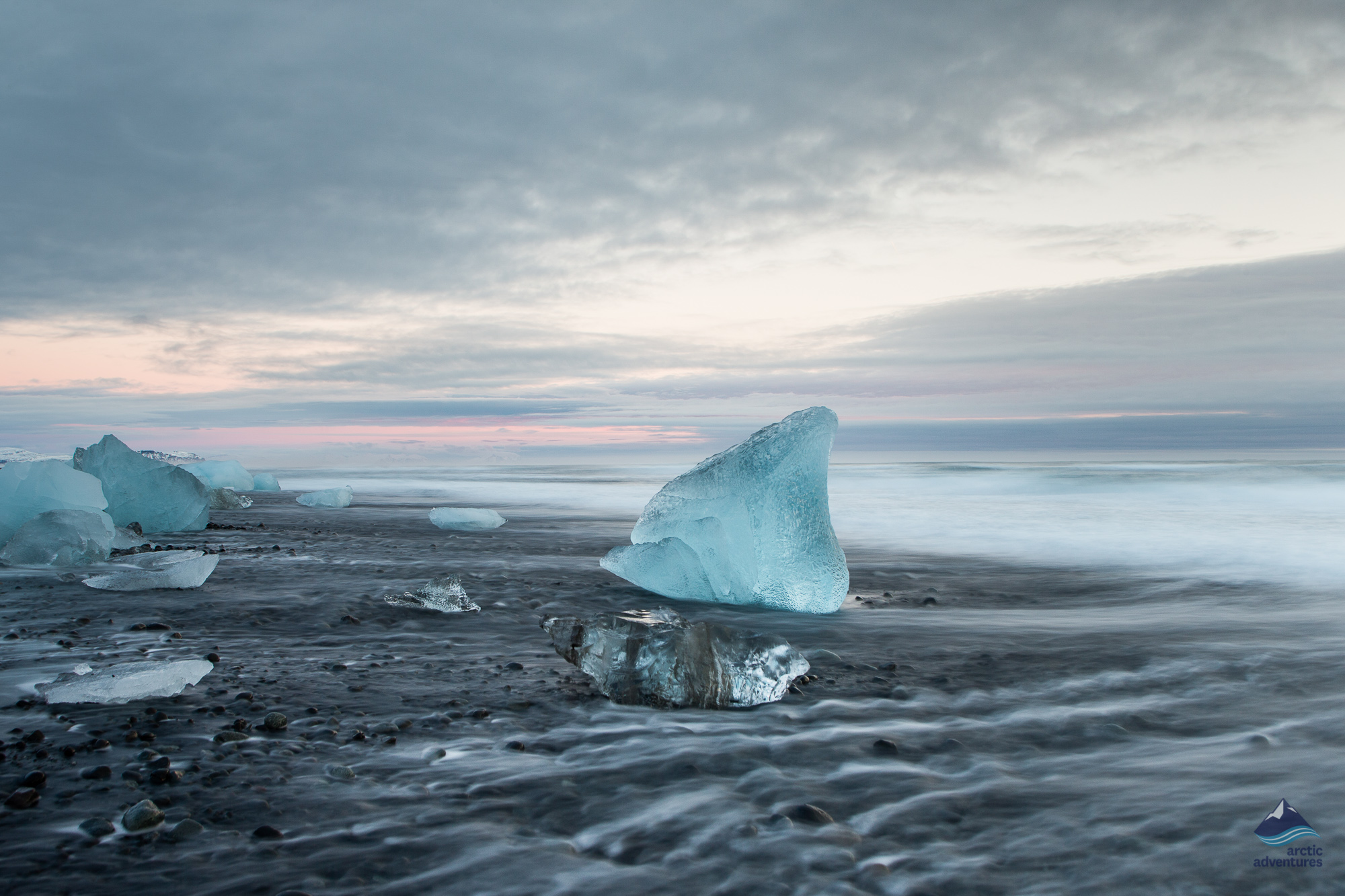 Standing in front of a Ice Berg