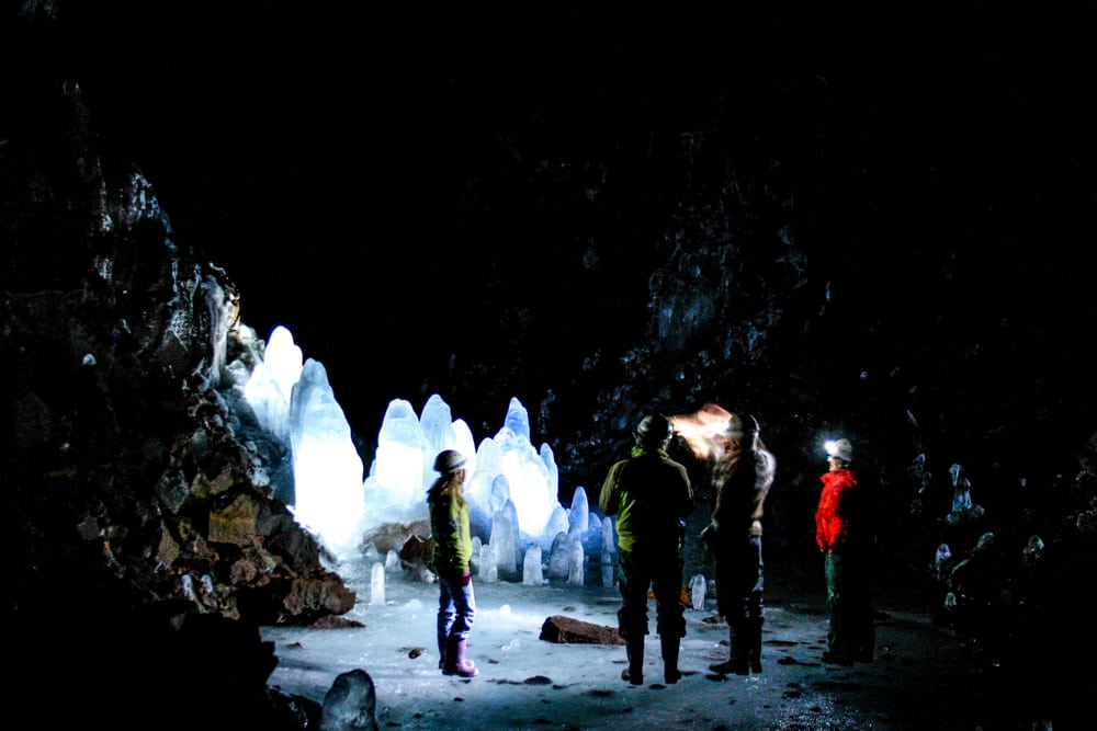 Lofthellir Ice Cave in North Iceland