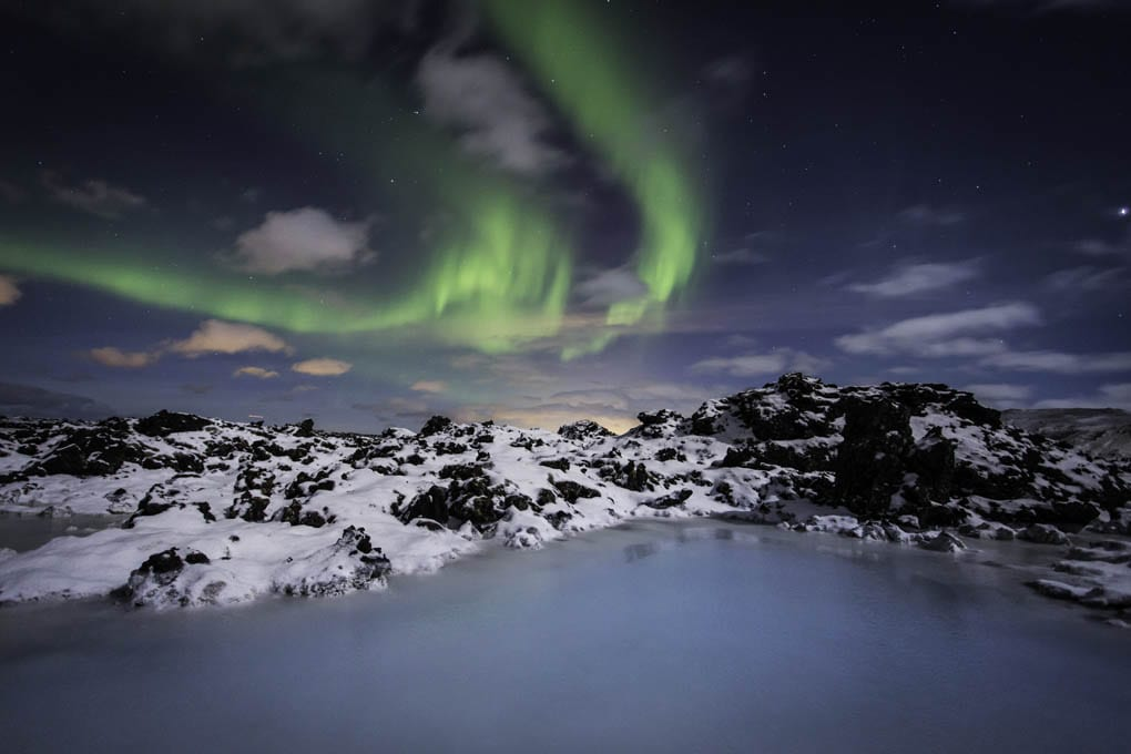 Northern Lights at Blue Lagoon