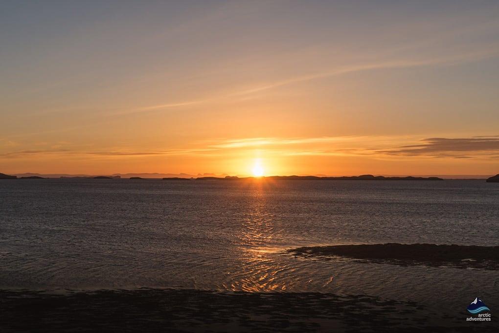 Midnight Sun Kayaking Iceland