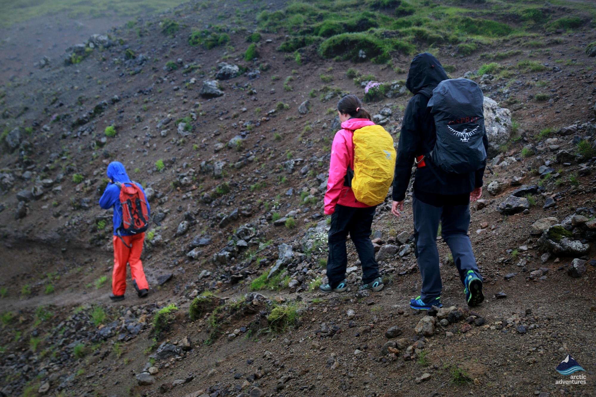Hiking to Reykjadalur