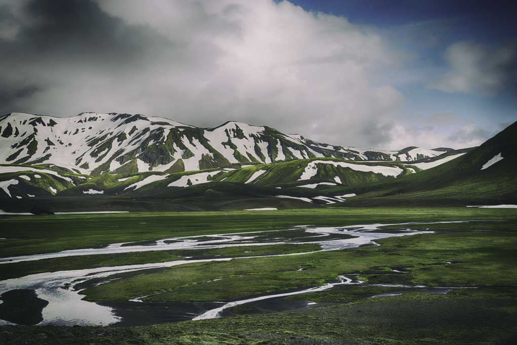 Landmannalaugar Iceland in summer