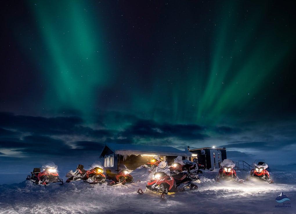 Northern Lights at Langjokull Glacier