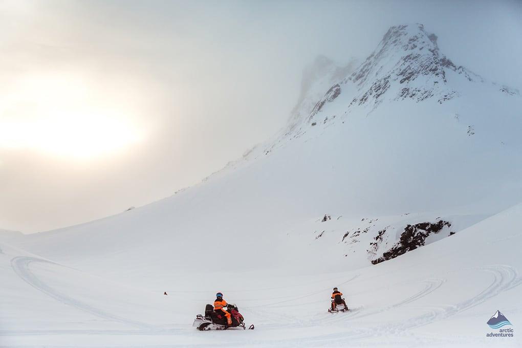 Snowmobiling Langjokull Glacier