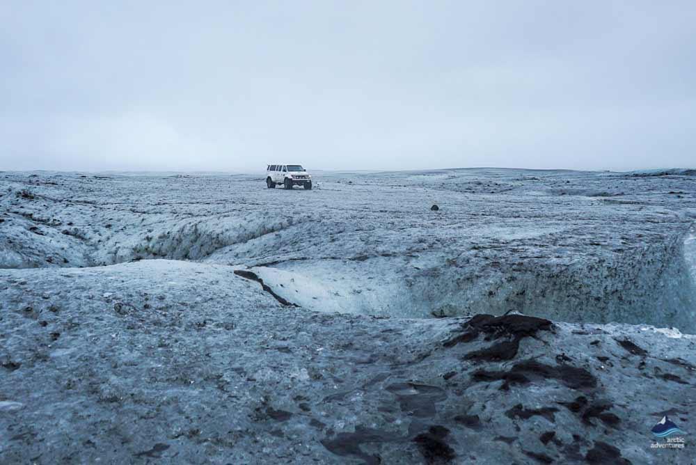 Vatnajokull Glacier in a Super Jeep