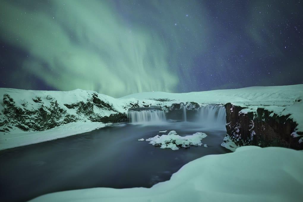 Northern Lights at Godafoss
