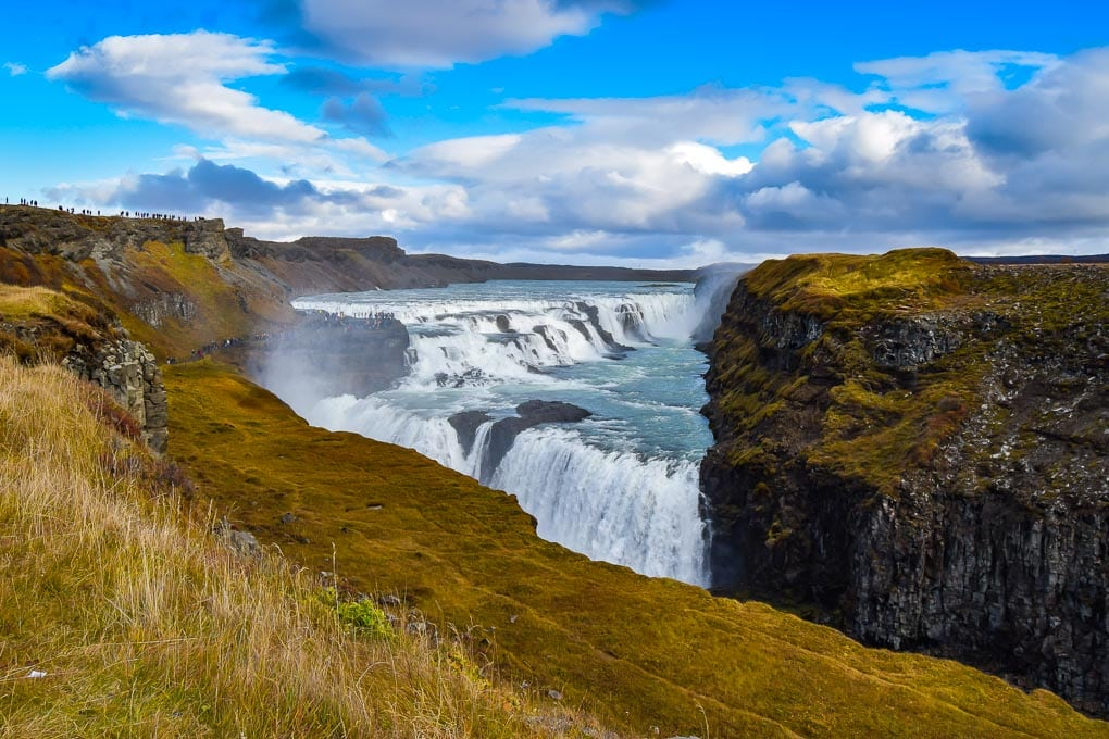 Gullfoss Waterfall in the Autumn