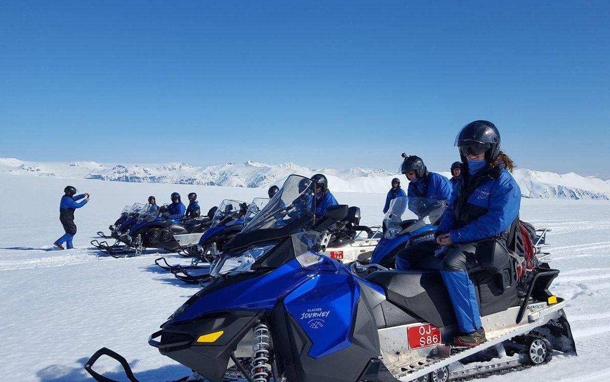 Snowmobiling on Vatnajokull