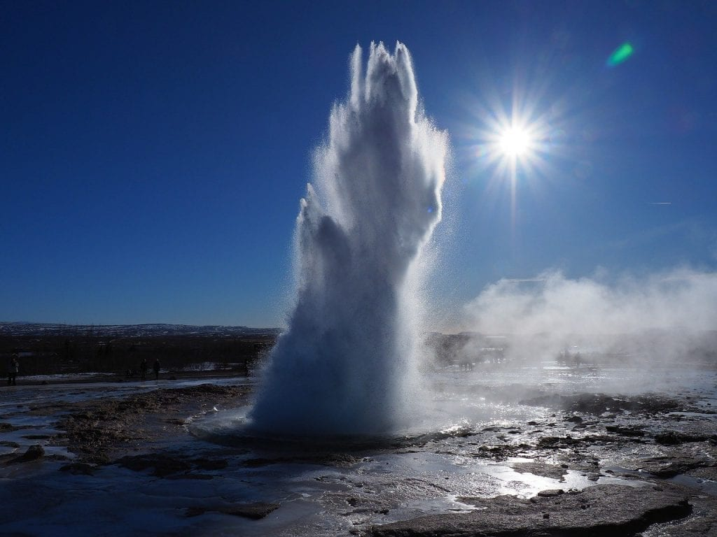 Strokkur Geyser in winter