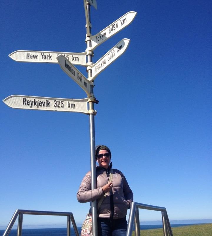 Arctic Circle Monument at Grimsey
