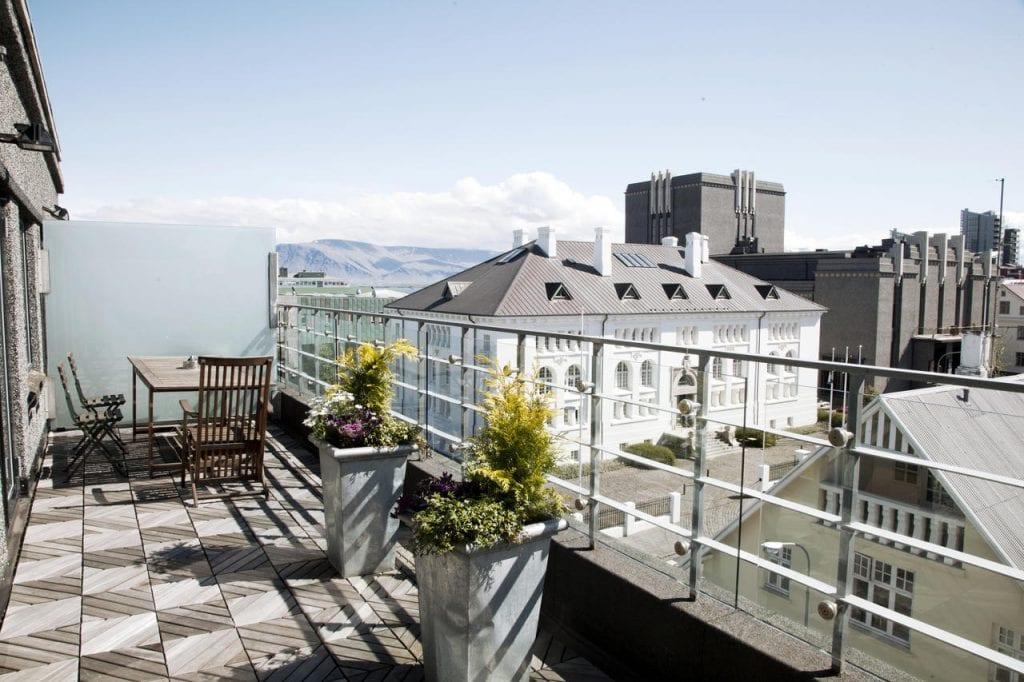 Balcony at 101 Hotel, Reykjavik, Iceland