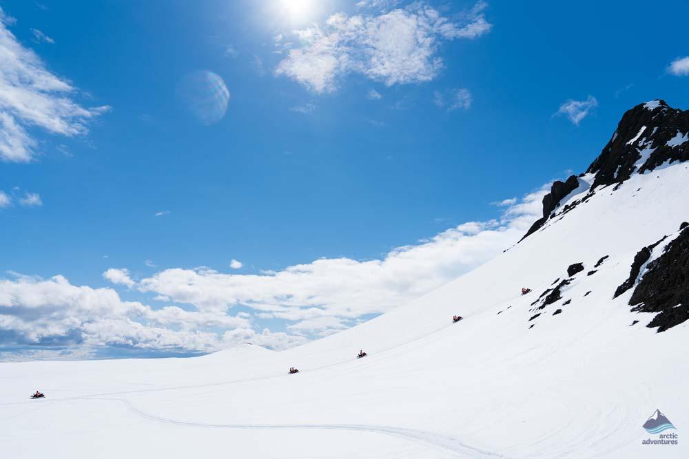 Sun over the glacier