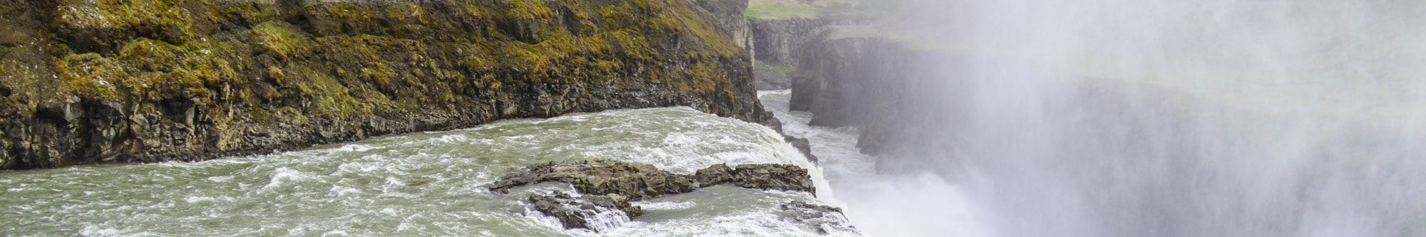 Gullfoss Waterfall banner