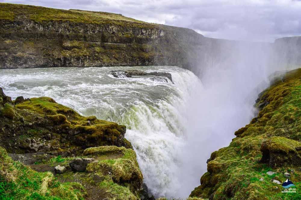 Gullfoss waterfall in the summer
