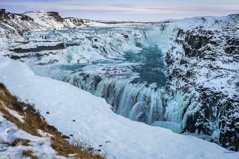 Gullfoss Waterfall in the Winter