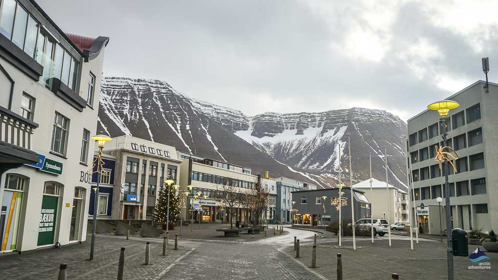 Downtown in Isafjordur Town
