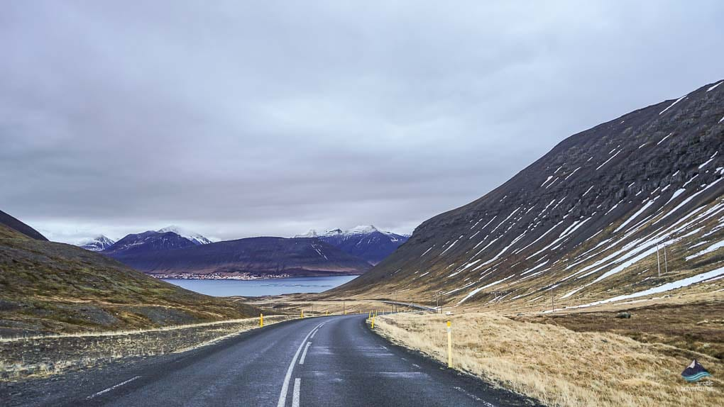 Driving to Isafjordur