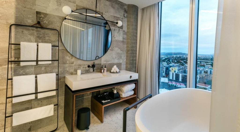 Bathroom at Tower Suites