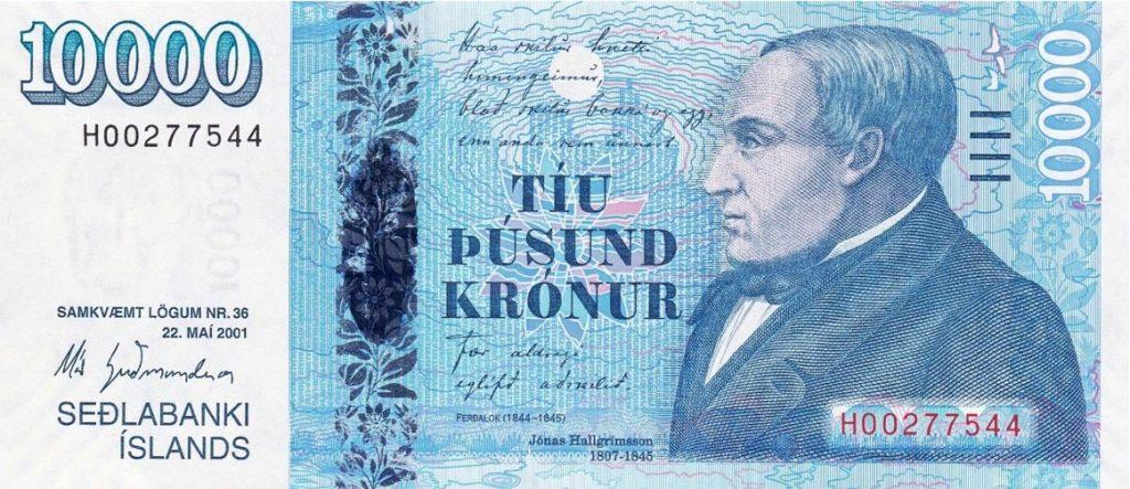 10.000 ISK Krónur