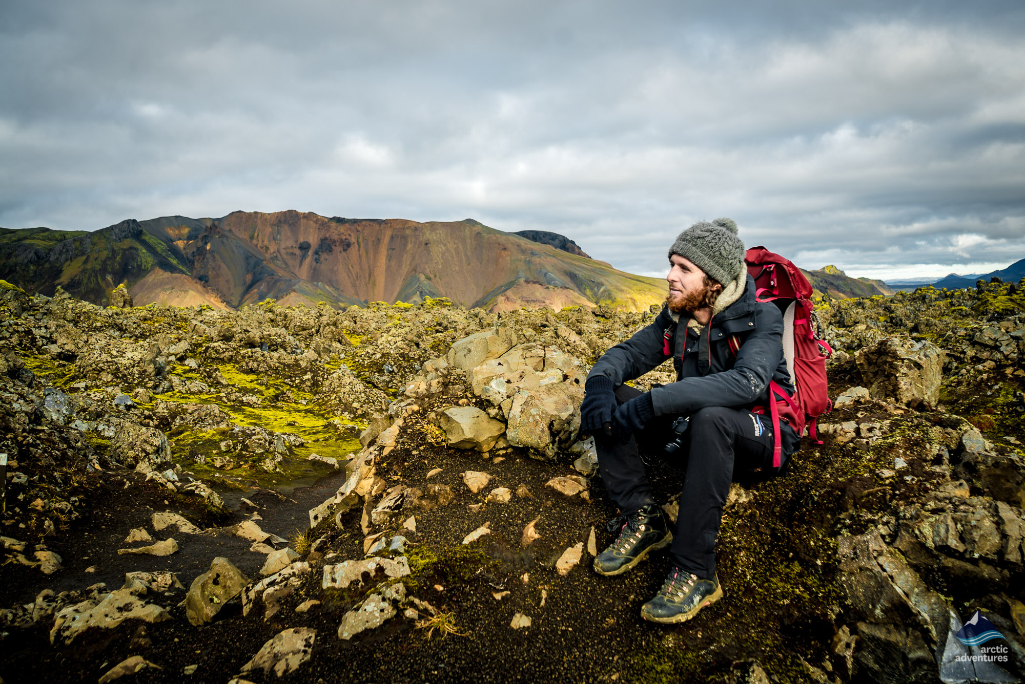 taking in the view at landmannalaugar