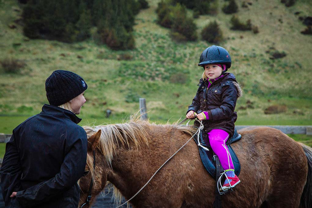 children horse riding on the south coast
