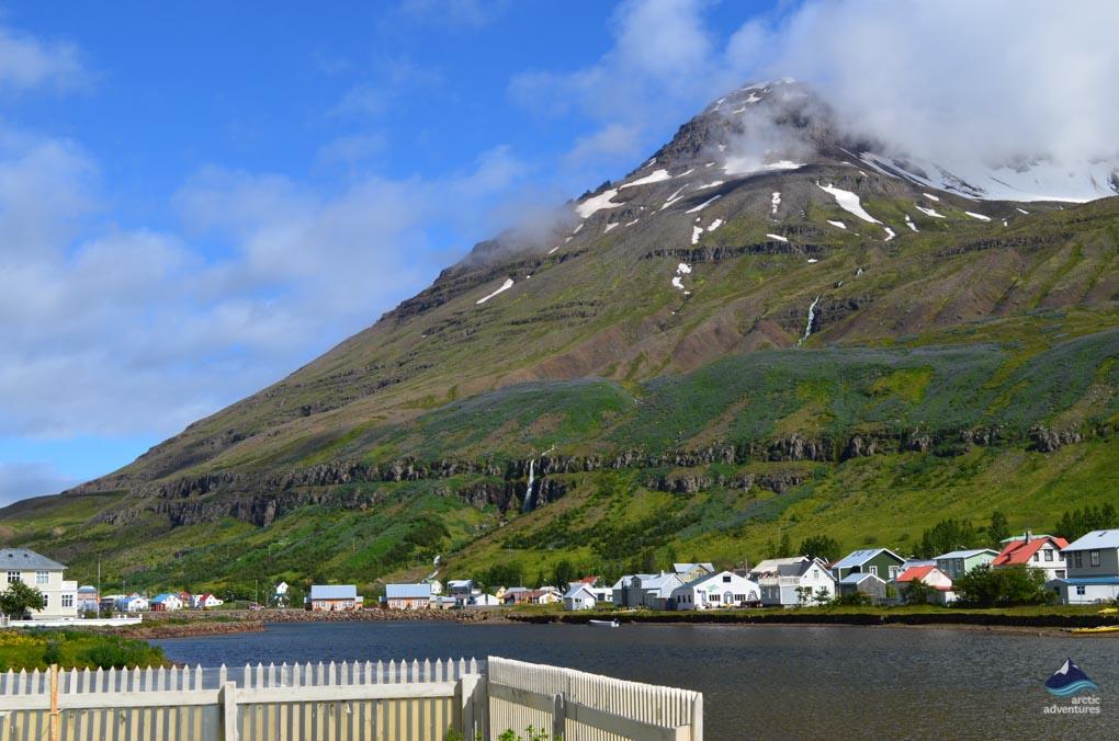 Seyðisfjörður view down the