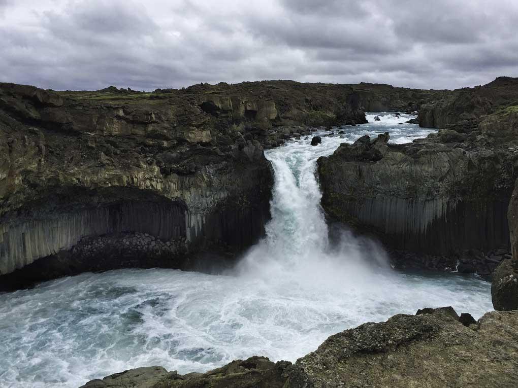 Aldeyjarfoss waterfall in the Icelandic highlands