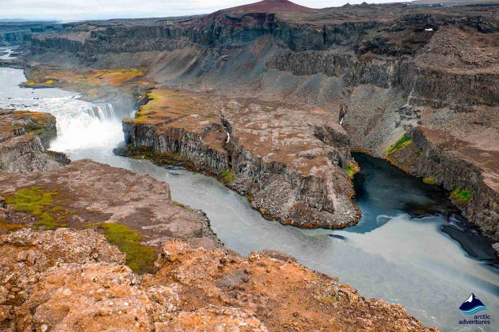 Hafragilsfoss Waterfall at Jokulsargljufur