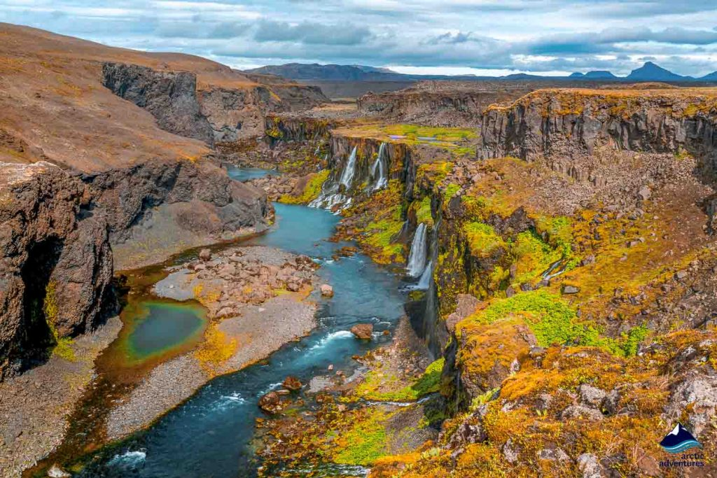 Sigoldugljufur Canyon in Iceland