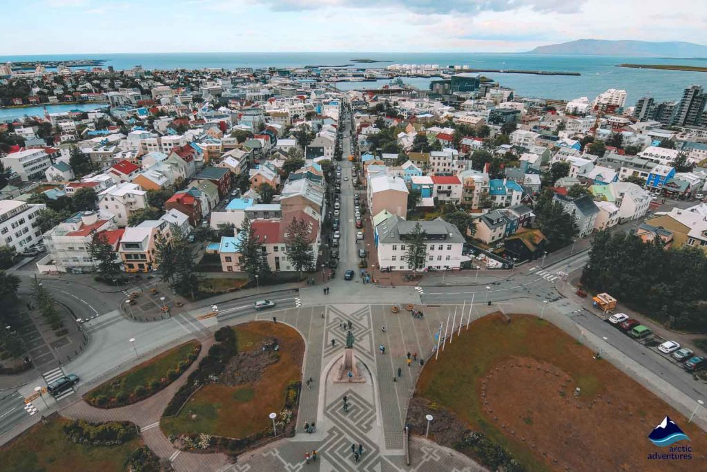 Reykjavik city from top