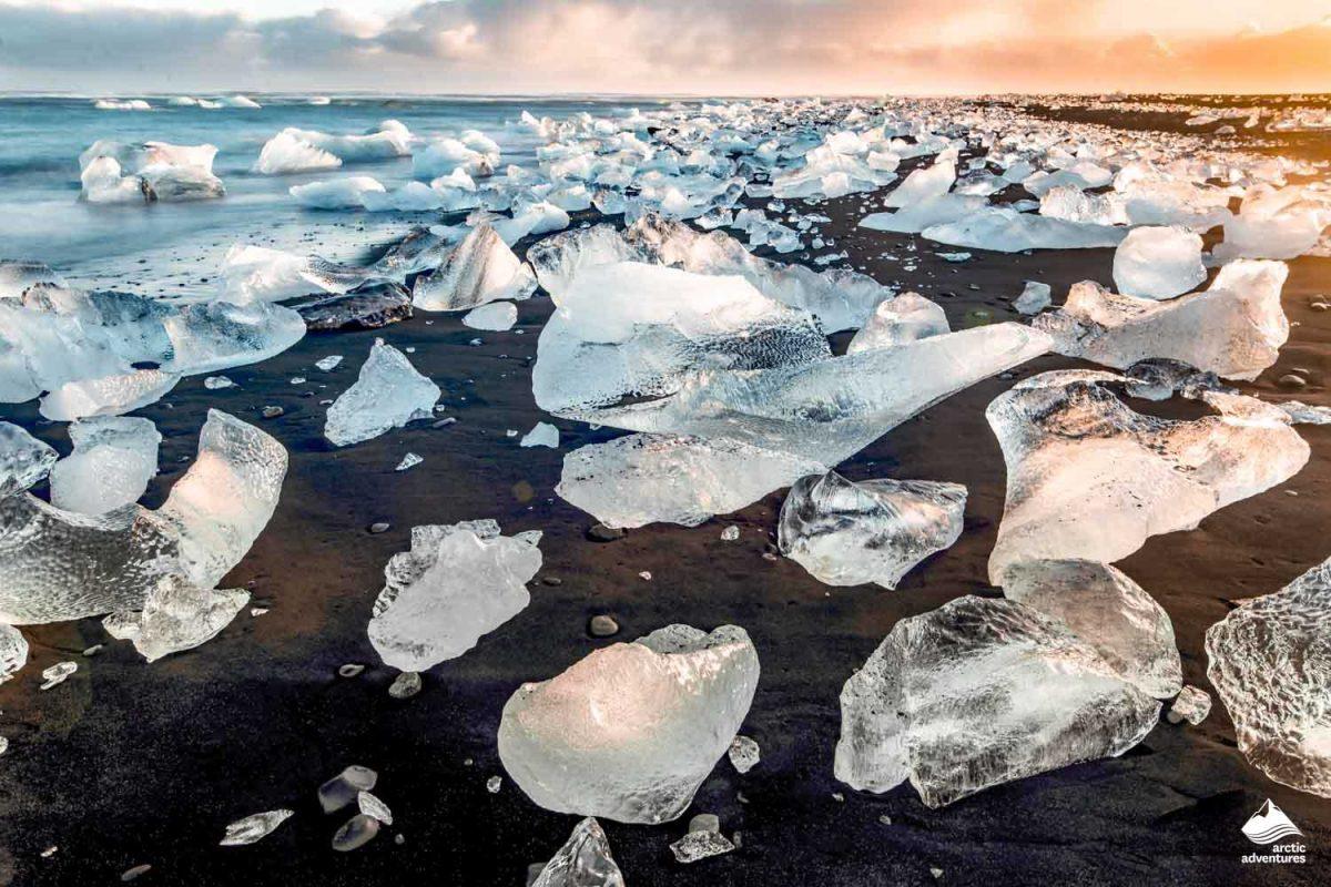 south coast iceland jokulsarlon diamond beach
