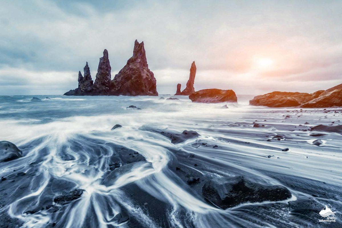 south coast iceland reynisfjara black sand beach