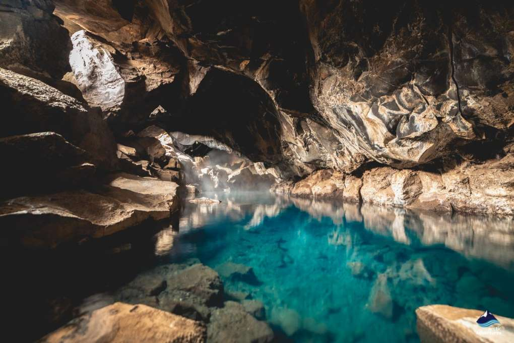 Grotagja hot spring cave