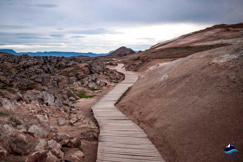 Krafla Lava fields pathway